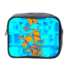 Butterfly Blue Mini Travel Toiletry Bag (Two Sides)