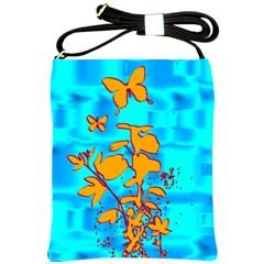 Butterfly Blue Shoulder Sling Bag