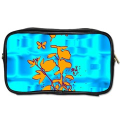Butterfly Blue Travel Toiletry Bag (Two Sides)