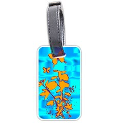 Butterfly Blue Luggage Tag (Two Sides)