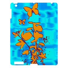 Butterfly Blue Apple Ipad 3/4 Hardshell Case