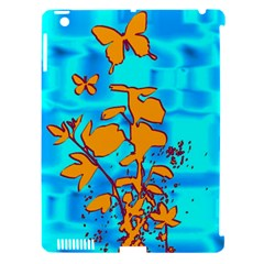 Butterfly Blue Apple Ipad 3/4 Hardshell Case (compatible With Smart Cover)