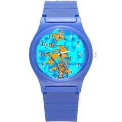 Butterfly Blue Plastic Sport Watch (Small)