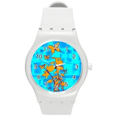 Butterfly Blue Plastic Sport Watch (Medium)