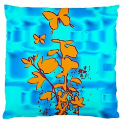 Butterfly Blue Large Cushion Case (Single Sided)
