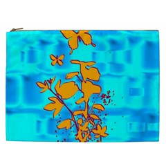 Butterfly Blue Cosmetic Bag (xxl)