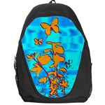 Butterfly Blue Backpack Bag Front