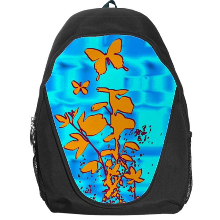 Butterfly Blue Backpack Bag