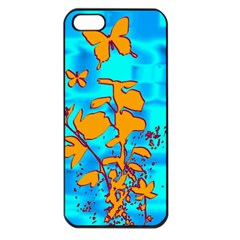 Butterfly Blue Apple iPhone 5 Seamless Case (Black)