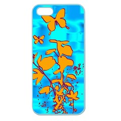 Butterfly Blue Apple Seamless iPhone 5 Case (Color)
