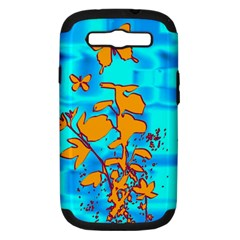Butterfly Blue Samsung Galaxy S III Hardshell Case (PC+Silicone)