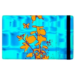 Butterfly Blue Apple iPad 2 Flip Case