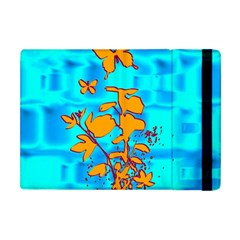 Butterfly Blue Apple Ipad Mini Flip Case
