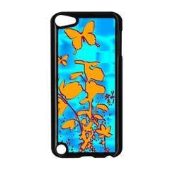 Butterfly Blue Apple iPod Touch 5 Case (Black)