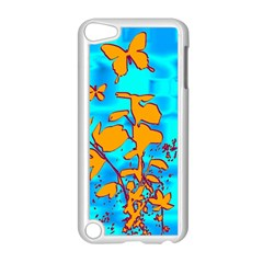 Butterfly Blue Apple iPod Touch 5 Case (White)