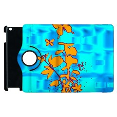 Butterfly Blue Apple iPad 3/4 Flip 360 Case