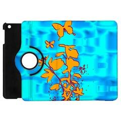 Butterfly Blue Apple iPad Mini Flip 360 Case