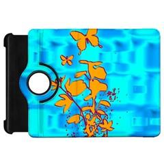 Butterfly Blue Kindle Fire HD 7  Flip 360 Case