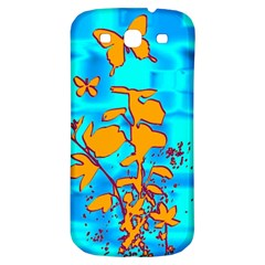 Butterfly Blue Samsung Galaxy S3 S III Classic Hardshell Back Case