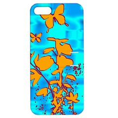 Butterfly Blue Apple iPhone 5 Hardshell Case with Stand