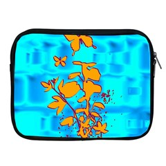 Butterfly Blue Apple iPad Zippered Sleeve