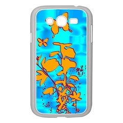 Butterfly Blue Samsung Galaxy Grand Duos I9082 Case (white)