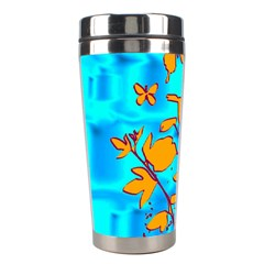 Butterfly Blue Stainless Steel Travel Tumbler