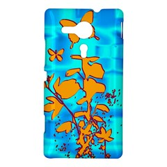 Butterfly Blue Sony Xperia Sp M35H Hardshell Case