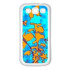 Butterfly Blue Samsung Galaxy S3 Back Case (white)