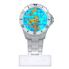 Butterfly Blue Nurses Watch