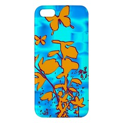 Butterfly Blue iPhone 5S Premium Hardshell Case