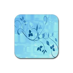 Floral Blue Drink Coasters 4 Pack (Square)