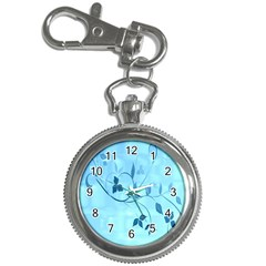 Floral Blue Key Chain & Watch