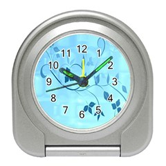 Floral Blue Desk Alarm Clock