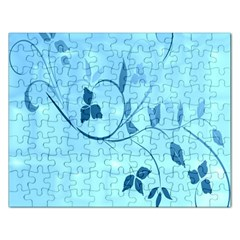 Floral Blue Jigsaw Puzzle (Rectangle)