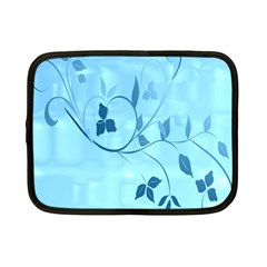 Floral Blue Netbook Sleeve (small)