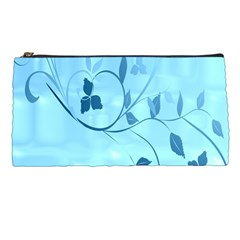 Floral Blue Pencil Case