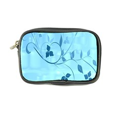 Floral Blue Coin Purse