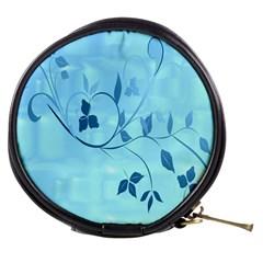 Floral Blue Mini Makeup Case