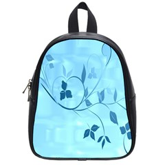 Floral Blue School Bag (Small)