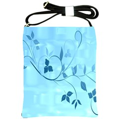 Floral Blue Shoulder Sling Bag