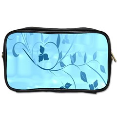 Floral Blue Travel Toiletry Bag (one Side)