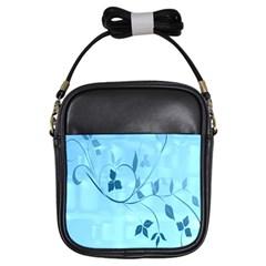 Floral Blue Girl s Sling Bag