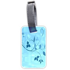 Floral Blue Luggage Tag (one Side)
