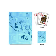 Floral Blue Playing Cards (Mini)