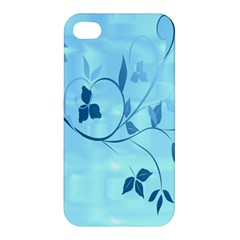 Floral Blue Apple iPhone 4/4S Hardshell Case