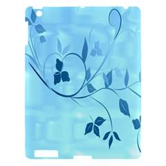 Floral Blue Apple iPad 3/4 Hardshell Case