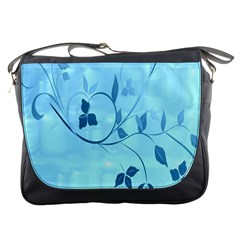 Floral Blue Messenger Bag