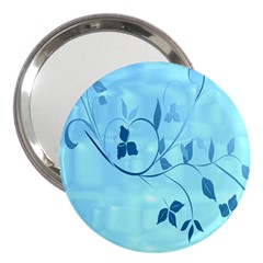 Floral Blue 3  Handbag Mirror
