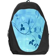 Floral Blue Backpack Bag